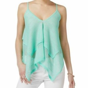 Bar III Draped Asymmetrical Camisole Top